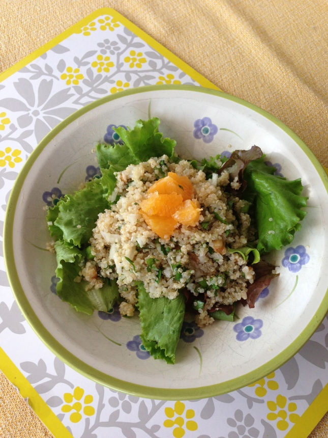 Quinoa, Fennel and Greens with Orange Basil Dressing